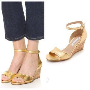 Diane von Furstenberg DVF Gold Asti Wedge Sandal